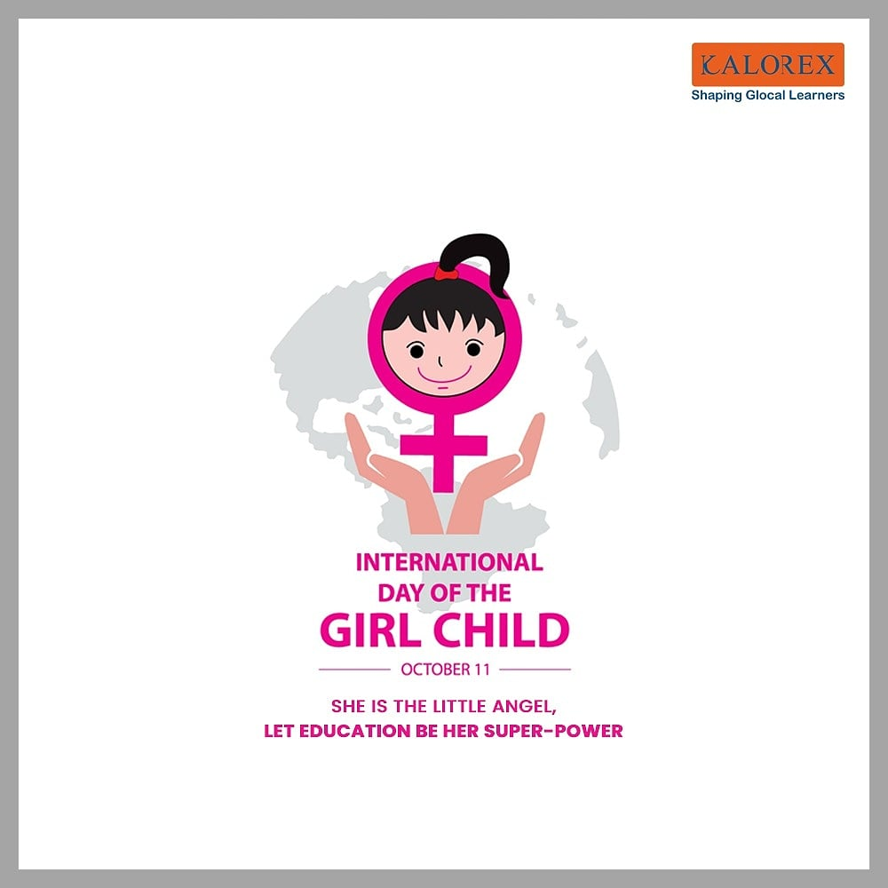 International Day of the Girl Child is an international observance day declared by the United Nations; it is also called the Day of Girls and the International Day of the Girl. October 11, 2012, was the first Day of the Girl Child.  Wikipedia   #Kalorex #internationalgirlchildday https://t.co/0KQiEWnkYP