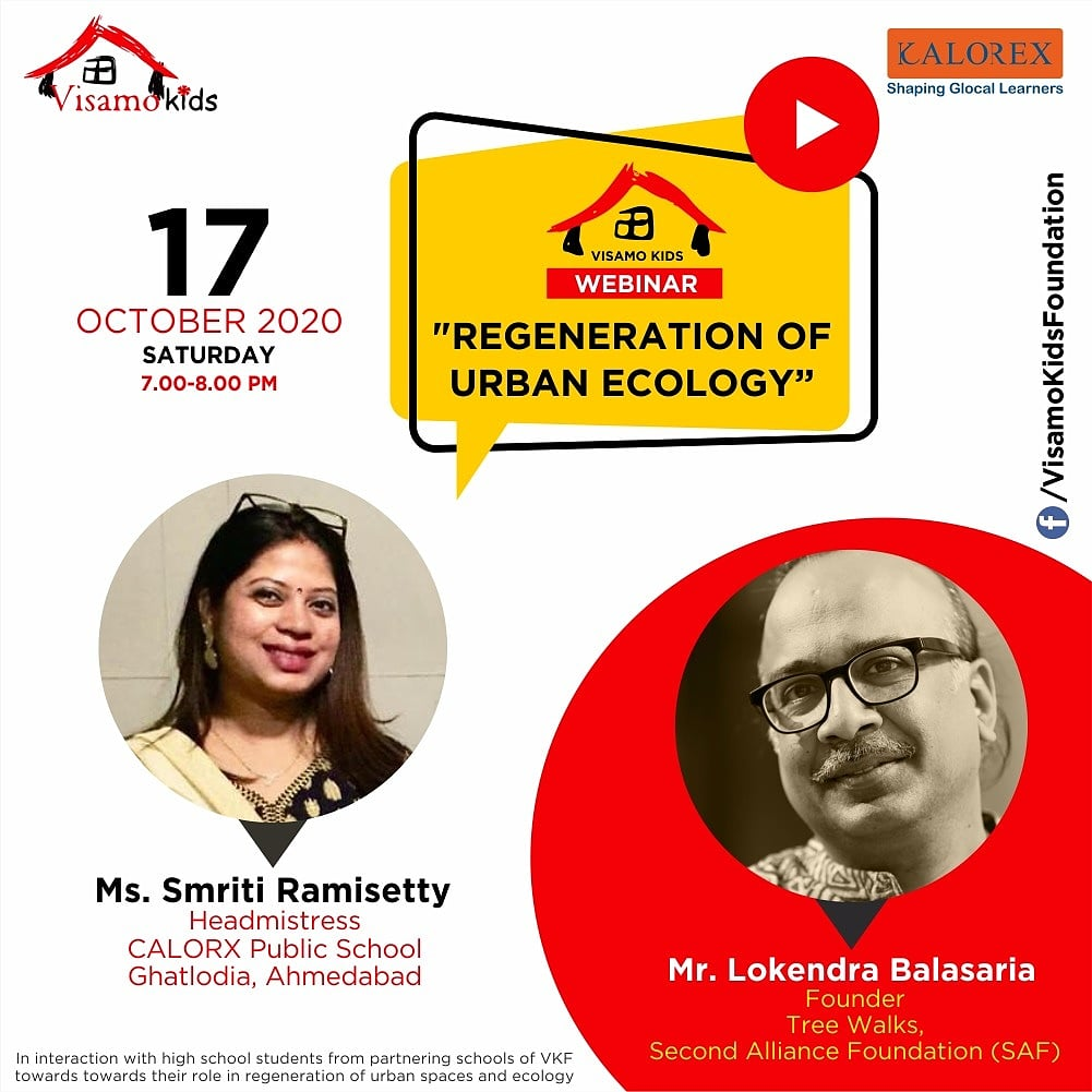 Welcome you all to the interaction between the guest speaker : Lokendra Balasaria- Founder, Tree walks - Second Alliance Foundation (SAF),  #Kalorex #education #calorx #students #teachers #parents #CPS #YaliHo #TreeTalk  #Ahmedabad #Treewalk https://t.co/nbFtZj0Gro