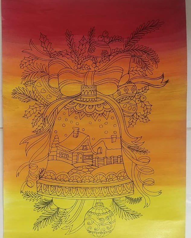 May the Christmas bell ring in a new season and a new year that is free of all the woes of 2020.  Drawing by Ms Dhwani Shah - DPS Bopal Teacher   #Staff engagement #Motivation #Art #Coloursoflife  #Christmasiscancelled #CharismaticChristmas #Xmas #MerryVibes #SantaClaus https://t.co/Z2jU1iMzJ5