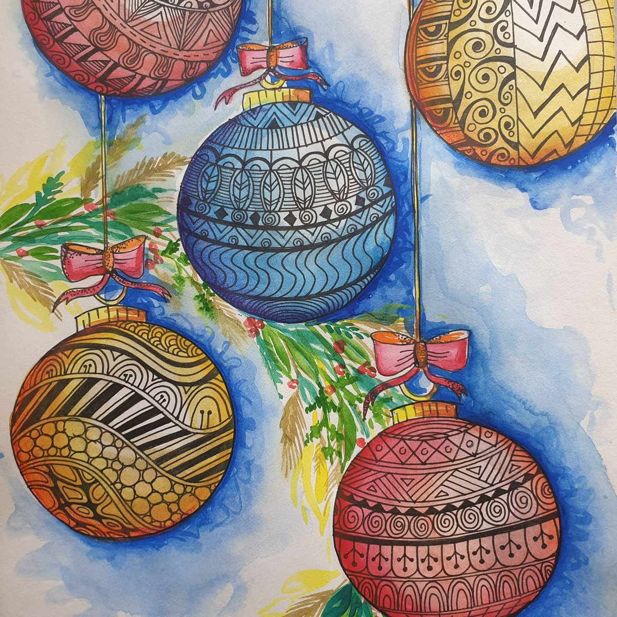 Seasons Greetings ..Wishing peace, joy, hope and welfare for all.  Sharing Ms Kadambari and Ms Askha - DPS Bopal Art & Drawing  Teacher work.   #SeasonsGreetings  #StaffEngagement #Motivation  #Christmasiscancelled #CharismaticChristmas   #GiftOfKnowledge #Christmas2020 https://t.co/HLY962i4jT
