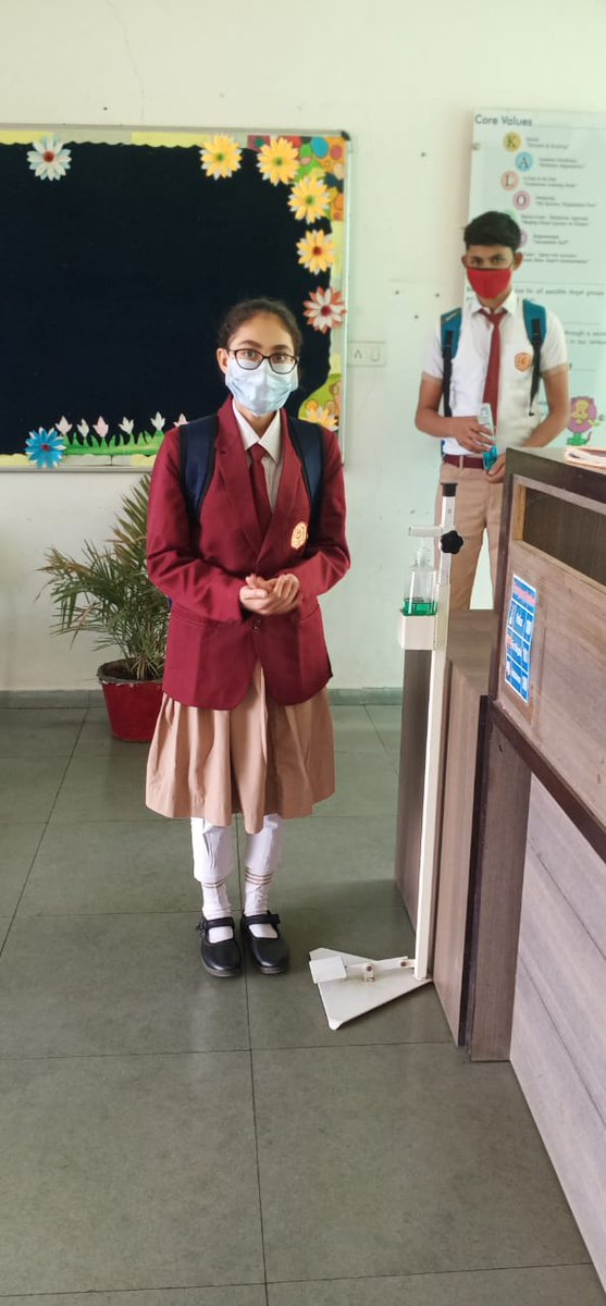 Masks are now an essential part of the school uniform. And students learn the value of wearing masks so as to protect others around you. The consideration for other's well-being is an important aspect of human values.  #MasksSaveLives #valuelife#CPS #manjulapoojashroff #kalorex https://t.co/wj3zIlgvjk