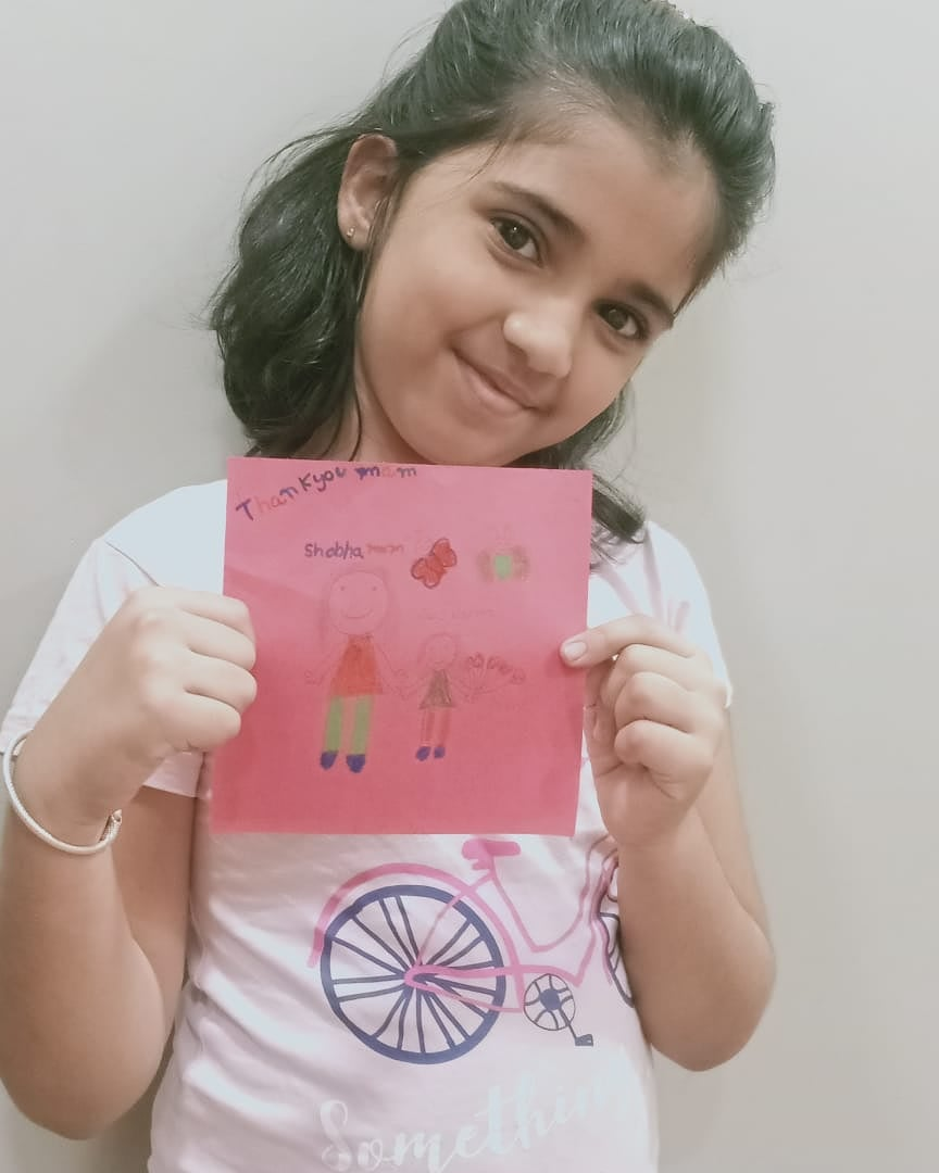The teachers walked an extra mile during the Pandemic to ensure that the students didn't miss out on their lessons. A sweet gesture by a Grade II, CPS Ghatlodia student thanking her teacher in a virtual PTM. #thankyou #gratitude #teachers #hardwork #students #pandemic #CPS #MPS https://t.co/pfVJg1y0Jv