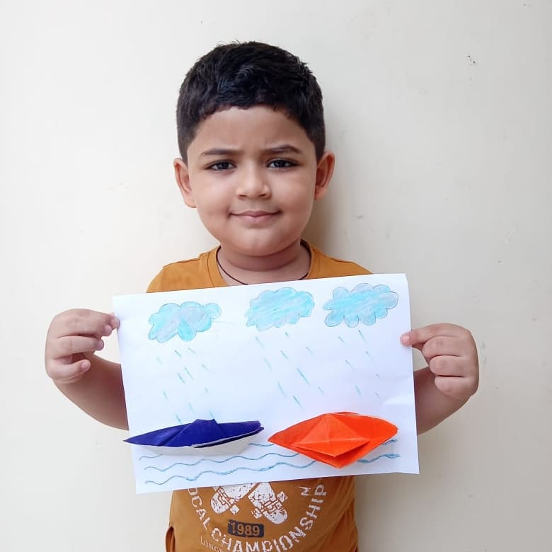 The Monsoon is back again and our tiny tots are welcoming the magical rain drops with open hearts. #moonsoon #rain #nature #season #rainyseason #kids #learning #onlineearning #drawing #CPS #Ghatlodia #manjulapoojashroff #MPS #SHROFFism https://t.co/yPat6W5TsB