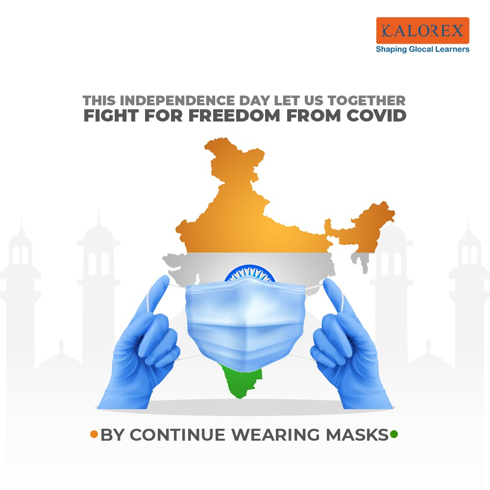 Wearing a MASK is not only important , it's life saving too.. We all want to get back things we love to do . Continue wearing mask for the freedom from Covid .  #wearamask #IndependenceDay2021 #freedom   #staysafe #cps #DPSBopal #VisamoKids #prerna #KPRS #ekalacademy #Kalorex#MPS https://t.co/Tsv6Yhq86o