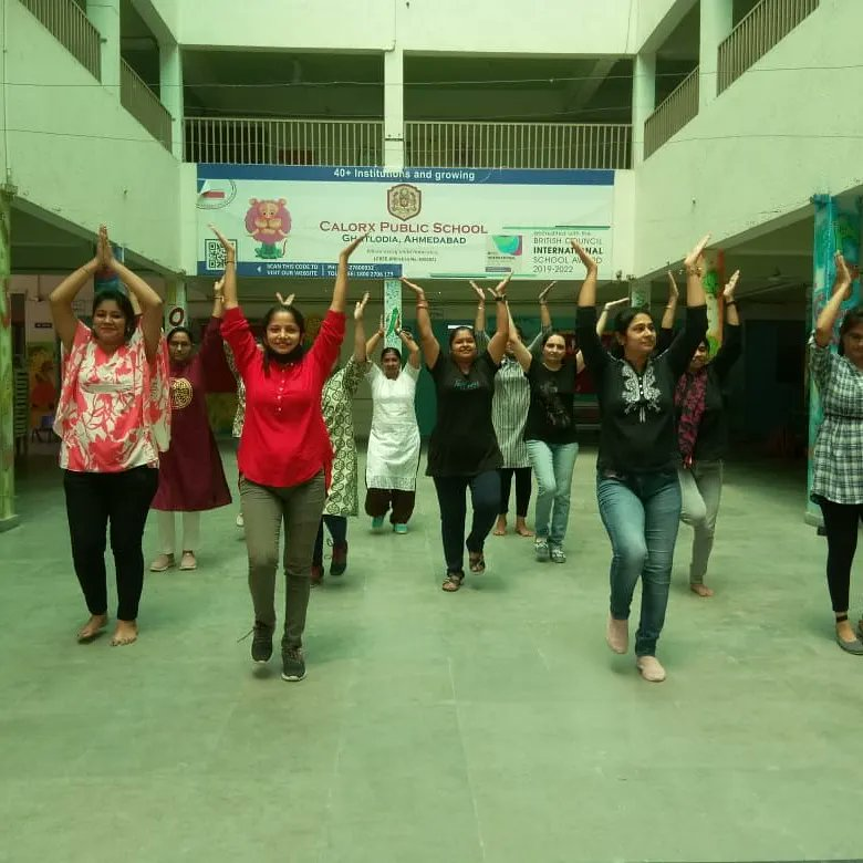 We at Kalorex, believe in this. For making the  environment conducive, teachers chose one language, i.e DANCE.  Our teachers grooved on and enjoyed Zumba dance.  #dance #energy #enthusiasm #teachers #enjoy #staffengagement #cps #cpsghatlodia #Kalorex #manjulapoojashroff #MPS https://t.co/QCmax2RIEN