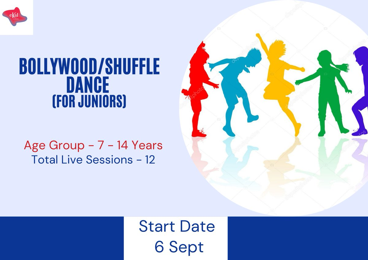ekal Invites :  Bollywood-Shuffle Dance (For Juniors)   Bollywood / Jazz Funk/  Streetstyle to all age groups, they have also explored the enchanting world of Indian Folk Dance.  Enrollment Link : https://t.co/3Dxahu4otm  #ekal #dance #passion #experts #kalorex #jazz #MPS https://t.co/EINcoUBNrj