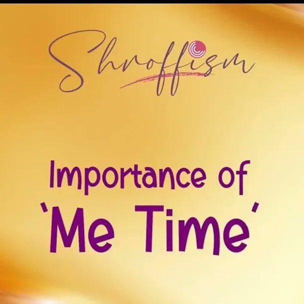 Its Me Time...  Sometime it's good to remind and rewind ourselves !  Watch SHROFFism full video on 'Me Time'  https://t.co/B7ytrx4CUn  #metime #memory #reshare #remindertoself #rewindtime #SHROFFism #manjulapoojashroff #mps https://t.co/yC6KI10d00