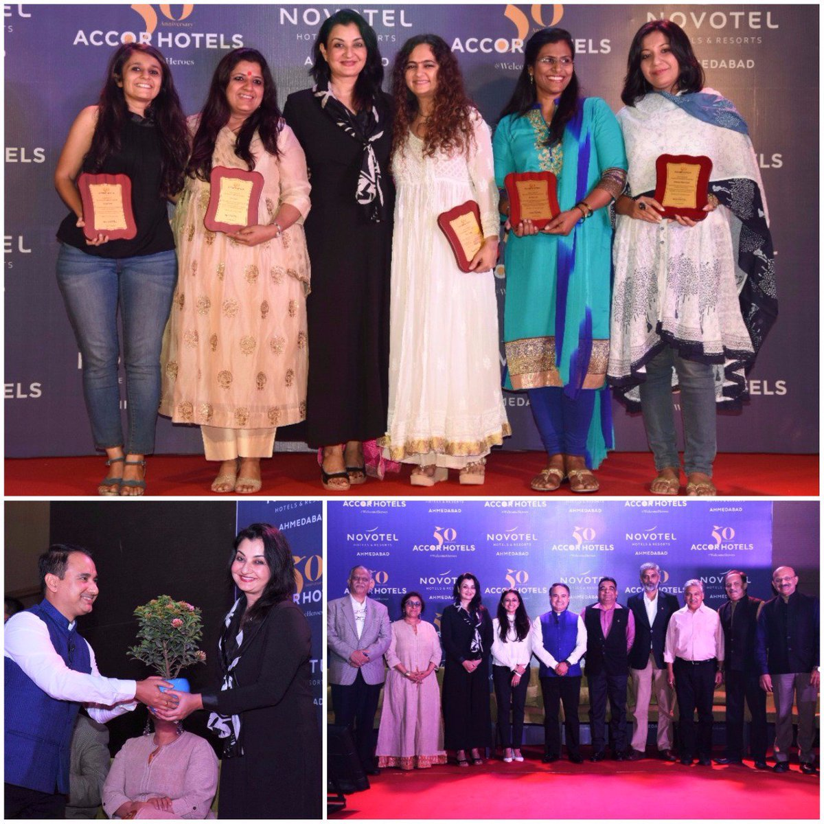 Felicitated these wonderful #UnsungHeroes of Gujarat at the #50yearcelebrations of #Accor Group (Novotel Hotel)   #MPS #Edupreneur https://t.co/TSRy5xeYPZ