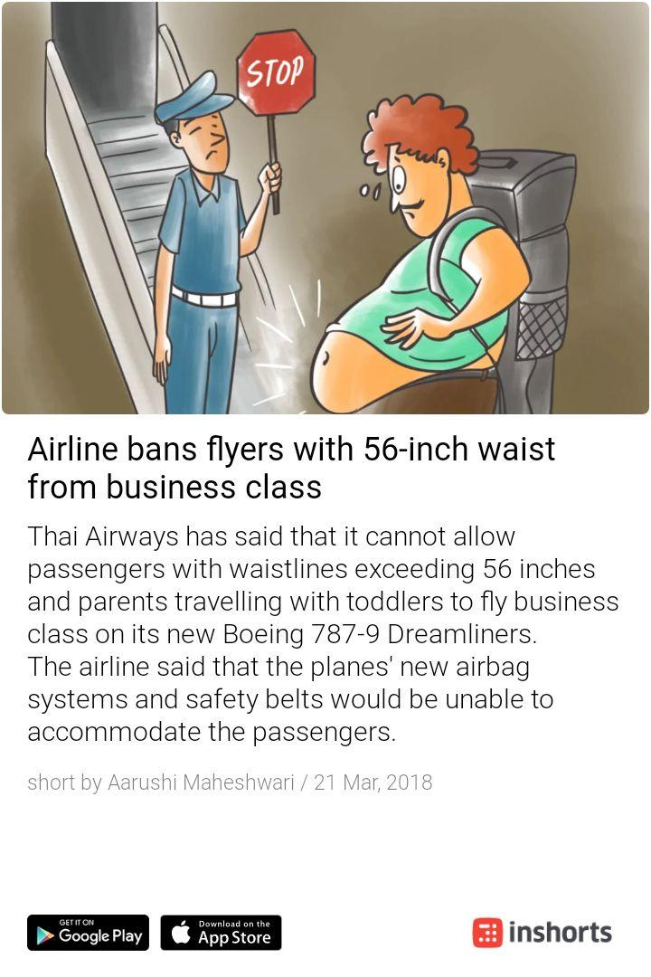 Taking fitness to yet another level. Now you have to have a narrow waistline in order to travel by air #airlineban #waistline https://t.co/TTc9XZ1KPt